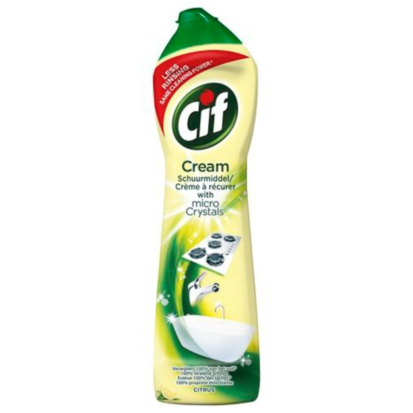 Cif Multi Purpose Cleaner with Cream and Micro Crystals Lemon - 500 ml