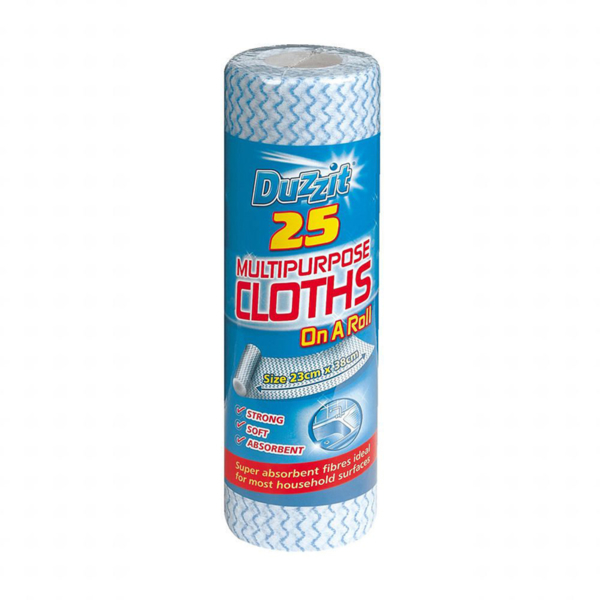 Duzzit Multi Purpose Cloths on a Roll 25s