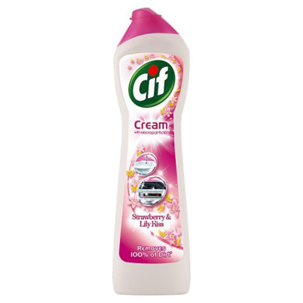 Cif Multi Purpose Cleaner with Cream and Micro Crystals Pink Flowers - 500 ml