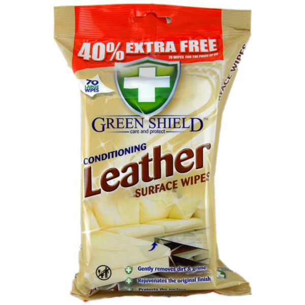 03 Greenshield Leather Surface Wipes 70 s