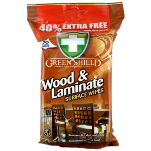 06 Greenshield Wood and Laminate Wipes 70 s