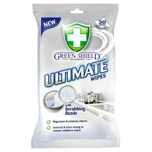 08 Greenshield Ultimate Wipes with Scrubbing Texture 30 s