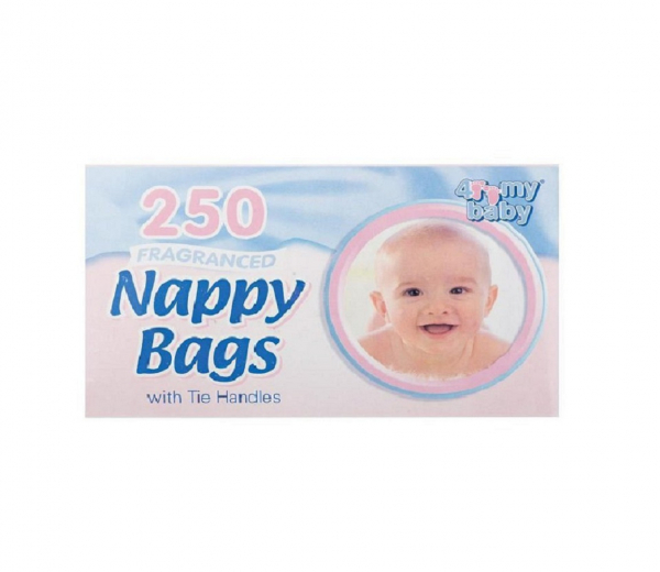4 My Baby Nappy Bags with Tie Handles 250 Sheets 1