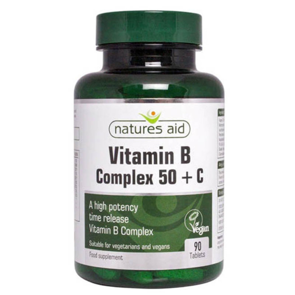 Natures Aid Vitamin B Complex + C High Strength 90's