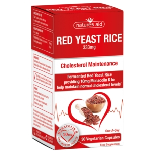 Natures Aid Red Yeast Rice 333mg Capsules