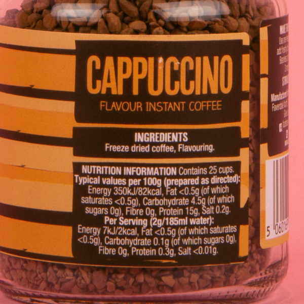new beanies barista instant coffee granules 50g cappuccino 1